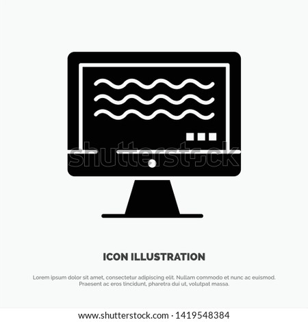Live, Streaming, Live Streaming, Digital solid Glyph Icon vector