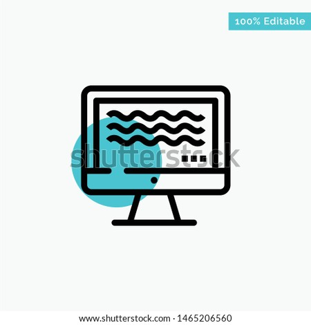 Live, Streaming, Live Streaming, Digital turquoise highlight circle point Vector icon. Vector Icon Template background