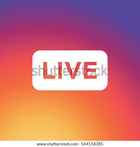 Live video streaming vector icon on colorful gradient background Stock photo ©