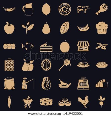 Livelihood icons set. Simple set of 36 livelihood vector icons for web for any design