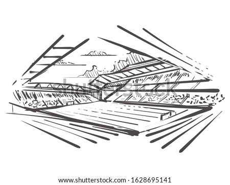 liverpool skyline sketch