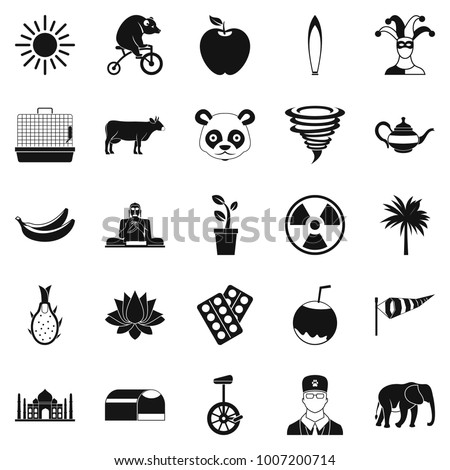 Living area icons set. Simple set of 25 living area vector icons for web isolated on white background