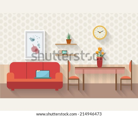 Living room with dining
