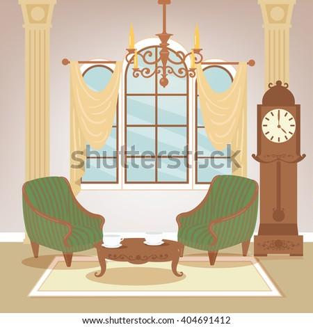 living room classic interior in