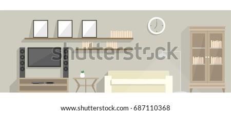 living room element elevation