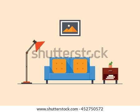 living room  flat design