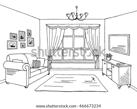Living Room Drawing free living room vector illustration - download free vector art