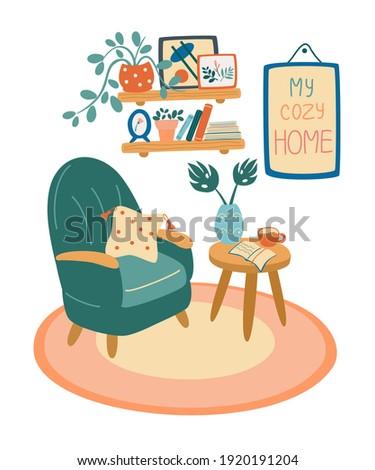 living room interior armchair