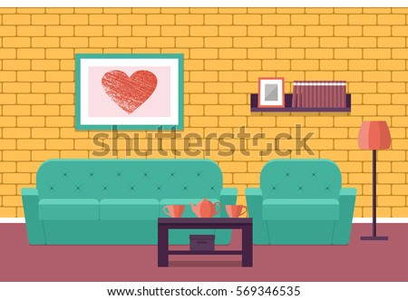 living room interior flat