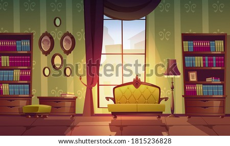 living room interior in english