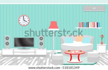 living room interior including