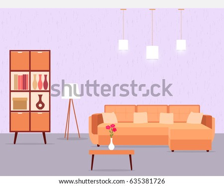 living room interior including