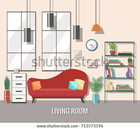 living room interior with