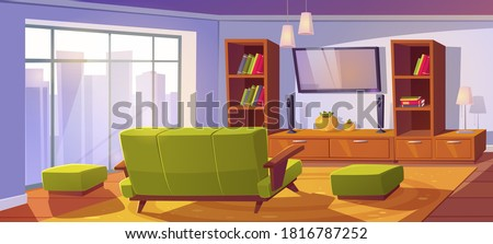 living room interior with sofa