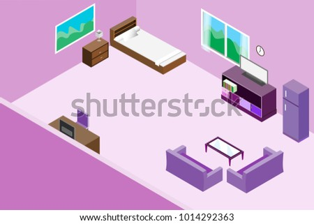 Free Isometric Living Room Vector - Download Free Vector Art, Stock ...