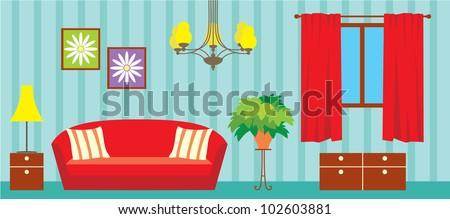 Living room. vector