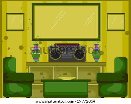 Living Room - Vector