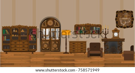 living room with fireplace in