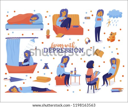 living with depression set
