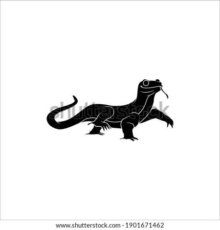 Lizard animal solid icon design Foto stock ©