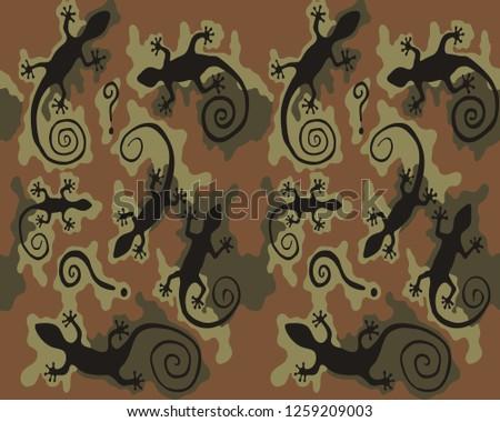 lizard camouflage seamless
