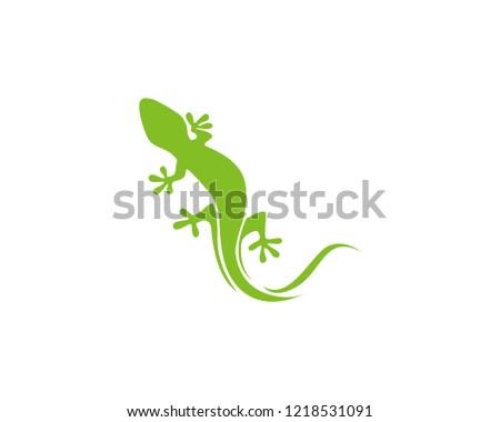 lizard green logo vector