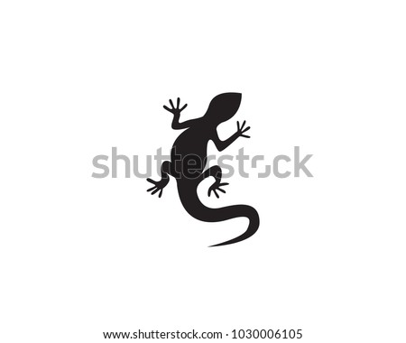 lizard vector icon logo and