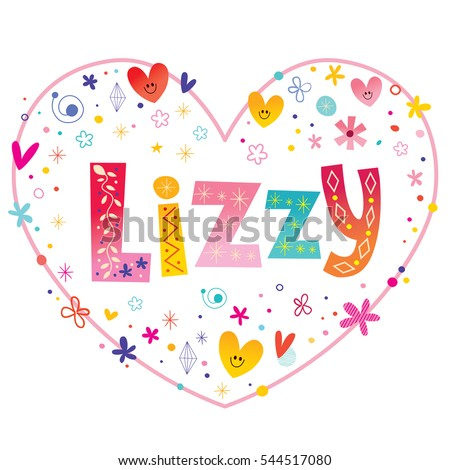 lizzy girls name decorative