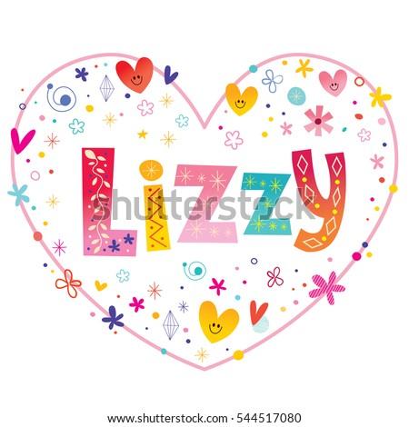 lizzy girls name decorative