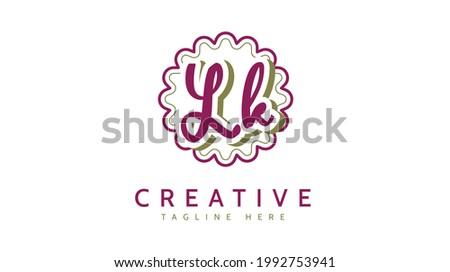 LK Initials, handwriting logo vector