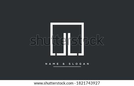 LL, L Alphabet Letters Logo monogram Template Stock fotó ©