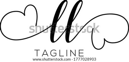 LL  Letter Initial Logo Design, Vector Template Stock fotó ©