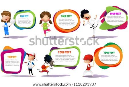 lllustration of kids engaging
