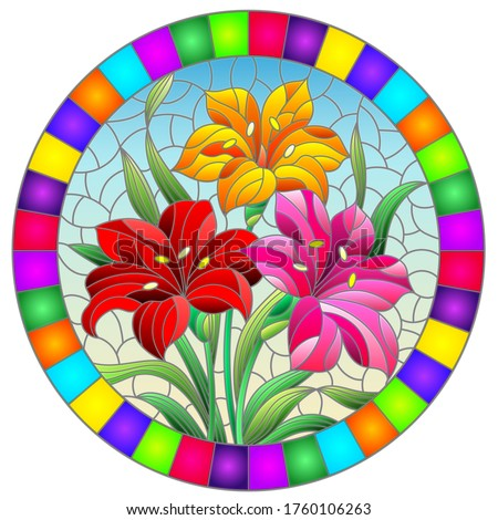 llustration in stained glass