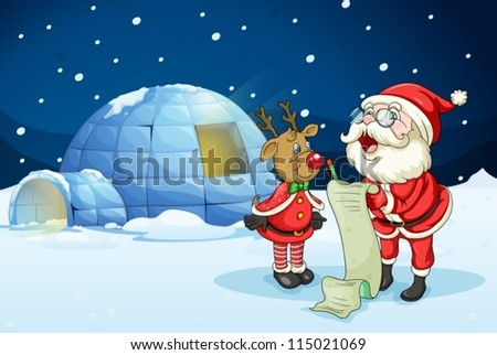 llustration of santa claus and