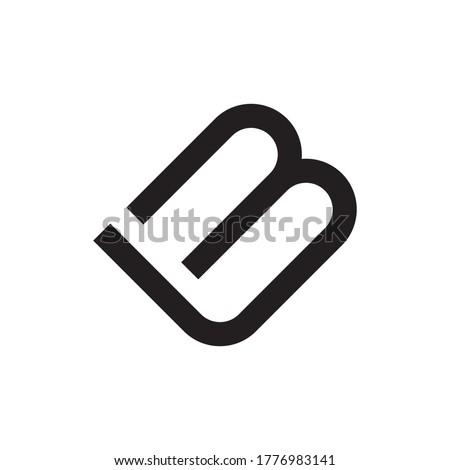 LM or LB letter logo design vector