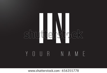 LN Letter Logo With Black and White Letters Negative Space Design.