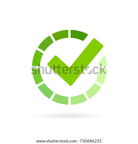 Load completed progress bar icon on white background