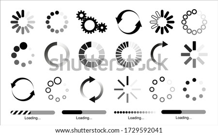 Load icon. Loading circle website buffer loader or preloader. Vector download or upload status icon .Vector illusration EPS 10