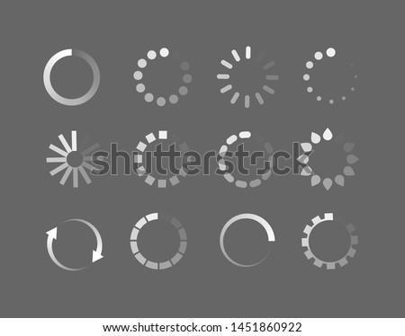 loader icon vector circle