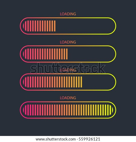 Loading bar icon.Creative web design element