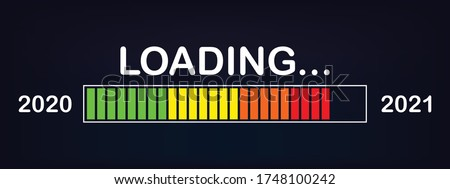 Loading bar 2020/2021 : new year loading