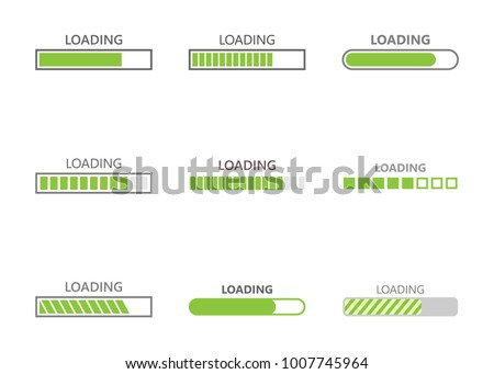 loading bar progress icons, load sign vector illustration