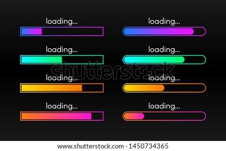 loading bar set on dark