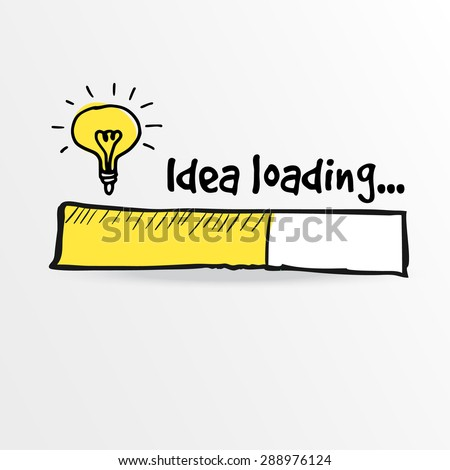 loading bar with bulb ...