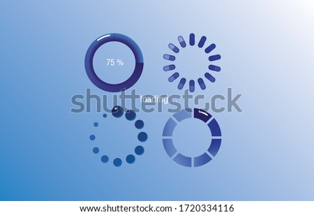 LOADING,Download sign. Load icon. Load system. Data load. Load icon. Vector stock illustration.