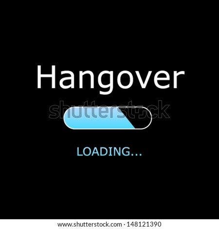loading hangover illustration