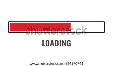 loading icon bar element web