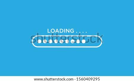 Loading icon flat design. vector illustration Сток-фото ©