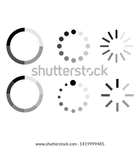 loading icon vector symbol